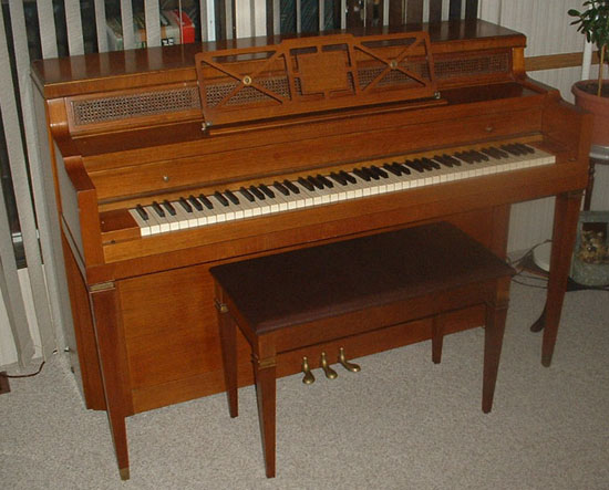 Types sizes of pianos for Baby grand piano size dimensions